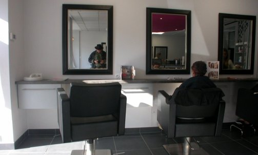 Salon de coiffure - plafonds